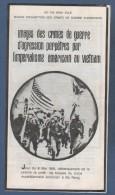 VIETNAM - PLAQUETTE DE PROPAGANDE HO CHI MINH VILLE - IMAGES DES CRIMES DE GUERRE PERPETRES PAR L'IMPERIALISME AMERICAIN - Documentos Históricos