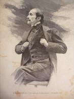 Edmond Rostand , De L'académie Française , Gravure Dochy 1901 - Historical Documents