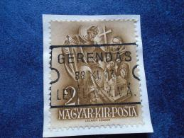 Hungary -  GERENDÁS  -Levélfelv.V.Á. (Vasút Állomás, Raiway Station)  -1938  Postmark  -handstamp  J1228.10 - Marcophilie