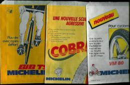 TROIS POCHETTES POUR ACCESSOIRES VELO OU CYCLOMOTEUR - PUBLICITE MICHELIN - Motor Bikes