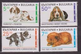 ** BULGARIA  CANI DOGS 4 V.  MNH - W.W.F.