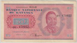 B00392  50 Francs Tshombé 10.11.60 TTB - Congo