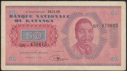 B00393  50 Francs Tshombé 10.11.60 TTB - République Démocratique Du Congo & Zaïre