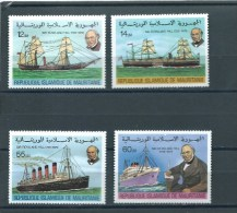 Mauretanien  ** , 636 - 39 , Schiffe , R. Hill - Mauritanië (1960-...)