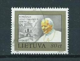 1993 Litouwen 80ct. visit of Pope John Paul used/gebruikt/oblitere