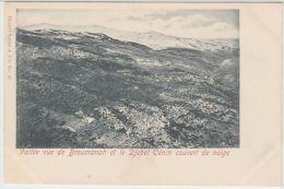 25506g BROUMANAH - Vall�e - Djebel C�nin couvert de neige - Tarazi & Fils Editeur