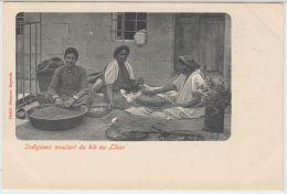25521g LIBAN - Indigénes Moulant Du Blé - Habib Naaman Editeur - Liban