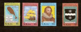 Saint Kitts St-Christophe 1985 Yvert N° 596-99 *** MNH Cote 6 Euro Noel Kerstmis - St.Kitts-et-Nevis ( 1983-...)