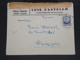 ESPAGNE - Enveloppe De Carcagente Pour La France En 1937 Avec Controle De Valencia -  à Voir P7309 - Marcas De Censura Nacional