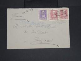 ESPAGNE - Enveloppe De Carcagente Pour La France En 1937 Avec Censure Militaire -  à Voir P7310 - Marcas De Censura Nacional