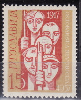 Yugoslavia 1957. 40th Anniversary Of October Revolution, MNH(**) Mi 833 - Unused Stamps