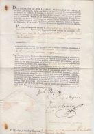 25489 DOCUMENTO FERNANDO VII - INFANTERIE WALLONNE - INFANTERIA WALONA - CAPITAN DIONISIO BOULIGNI - CADIZ JUNIO 1810 - Documents Historiques