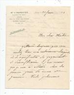 Lettre Professionnelle Maitre J. Darquier , Avoué , CIVRAY , Vienne , 1924 , 4 Pages , 2 écrites - Facturas & Documentos Mercantiles
