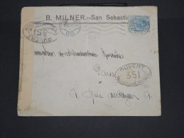 ESPAGNE - Enveloppe De San Sebastian Pour Paris En 1916 Avec Controle -  à Voir P7323 - Cartas