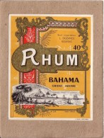ETIQUETTE - LOIRE - ROANNE - RHUM BAHAMA - L. DOZANCE - 122 X 97 Mm - Rhum