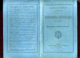 - INSPECTIONS GENERALES EN 1897 . DISPOSITIONS COMMUNES A TOUTES LES ARMES ET A TOUS LES SERVICES . - Books