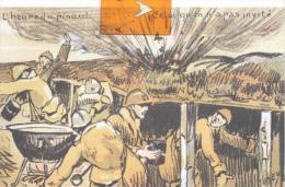 CPA Militaria - Carte Humoristique : L´heure Du Pinard ( Signé TUDEY )reés Bon état ( Voir Scan) - Humoristiques