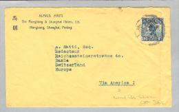 Asien China Shanghai 1924-08-04 Brief Via USA > Basel CH - China