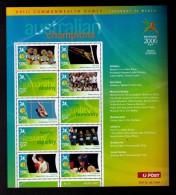 AUSTRALIA 2006 - MINI SHEET AUSTRALIAN CHAMPIONS - COMMONWEALTH GAMES - HOCKEY - Neufs