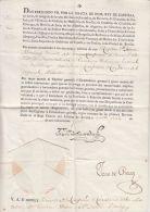 25490 DOCUMENTO FERNANDO VII - BATAILLON GARDE WALLONNE - BATALLON DE GUARDIA - CAPITAN DIONISIO BOULIGNI - SEVILLA JUNI - Historical Documents