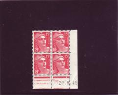 N° 813 - 15F Marianne De GANDON - AP De  AO+AP - 1° Tirage Du 12.9.49 Au 14.10.49 - 27.09.1949 - - Coins Datés