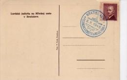 2766  Postal Checoslovaquia Bratislava  1948 Lurdska Jaskyña Na Hobokej Ceste  , Lourdes - Tschechoslowakei/CSSR