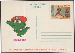 1982-EP-58 CUBA 1982. Ed.131. POSTAL STATIONERY. TARJETA POSTAL. XIV JUEGOS CENTROAMERICANOS. ERROR PUNTO. UNUSED.