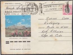 1982-EP-65 CUBA 1982. Ed.191i. POSTAL STATIONERY. ENTERO POSTAL. J. MARTI. HOTEL PASACABALLO. C. CLASIF NACIONAL. USED.