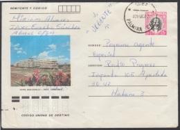 1982-EP-66 CUBA 1982. Ed.191i. POSTAL STATIONERY. ENTERO POSTAL. J. MARTI. HOTEL PASACABALLO. CIENFUEGOS. USED.