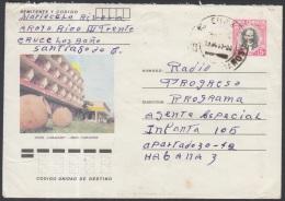 1982-EP-68 CUBA 1982. Ed.191f. POSTAL STATIONERY. ENTERO POSTAL. J. MARTI. HOTEL CAMAGUEY. STGO DE CUBA. USED.
