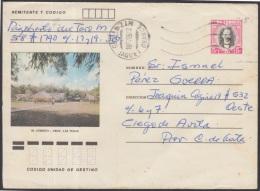 1982-EP-70 CUBA 1982. Ed.191c. POSTAL STATIONERY. ENTERO POSTAL. J. MARTI. EL CORNITO. JAGUEY GRANDE. USED.