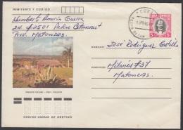 1982-EP-72 CUBA 1982. Ed.191d. POSTAL STATIONERY. ENTERO POSTAL. J. MARTI. MIRADOR MAYABE. MATANZAS. USED.