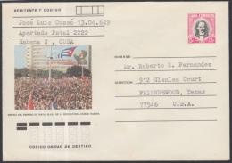 1982-EP-73 CUBA 1982. Ed.191b. POSTAL STATIONERY. ENTERO POSTAL. J. MARTI. DEFILE 1 DE MAYO. HABANA. USED.