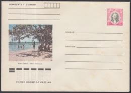 1982-EP-76 CUBA 1982. Ed.191l. POSTAL STATIONERY. ENTERO POSTAL. J. MARTI. PLAYA LARGA. MATANZAS. UNUSED.