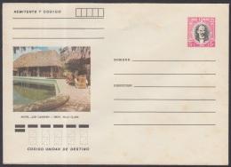 1982-EP-77 CUBA 1982. Ed.191a. POSTAL STATIONERY. ENTERO POSTAL. J. MARTI. HOTEL LOS CANEYES. UNUSED.