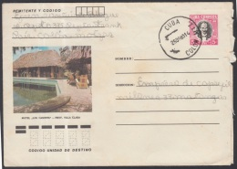 1982-EP-78 CUBA 1982. Ed.191a. POSTAL STATIONERY. ENTERO POSTAL. J. MARTI. HOTEL LOS CANEYES. MATANZAS. USED.