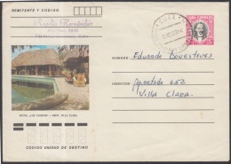 1982-EP-79 CUBA 1982. Ed.191a. POSTAL STATIONERY. ENTERO POSTAL. J. MARTI. HOTEL LOS CANEYES. MATANZAS. USED.