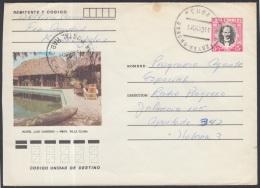 1982-EP-80 CUBA 1982. Ed.191a. POSTAL STATIONERY. ENTERO POSTAL. J. MARTI. HOTEL LOS CANEYES. RANCHO VELOZ. USED.