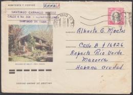 1982-EP-82 CUBA 1982. Ed.191m. POSTAL STATIONERY. ENTERO POSTAL. J. MARTI. ESCALERAS DE JARUCO. STGO DE CUBA. USED.