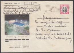 1982-EP-89 CUBA 1982. Ed.191j. POSTAL STATIONERY. ENTERO POSTAL. J. MARTI. HOTEL CIEGO DE AVILA. HABANA. USED.