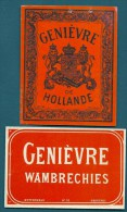 ETIQUETTE ANCIENNE- GENIEVRE DE HOLLANDE ET WANBRECHIES-  ETIQUETTE N°56 ET 110 - - Autres