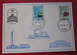 Vereinte Nationen UNO 1982 Karte Wien Briefmarken Satz - ONU