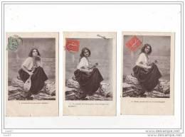 LOT DE 3 CPA MUSIQUE - FEMME (Ref 1174) - Musique Et Musiciens