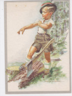 CARD HOLZER BIMBO TAGLIALEGNA GROSSA ASCIA  - FG-N-2-0882- 23878 - Holzer, Adi