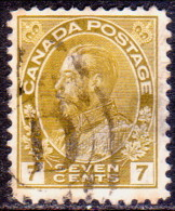 Canada 1915 SG #208 7c VF used olive-yellow
