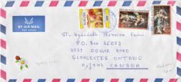 Postal History Cover: Burundi With Revalued Mushrooms, Flowers Stamps - Burundi