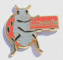 Pin's C.C.P SERVICES PLUS - La Coccinelle- Zamac - Starpin's - E186 - Mail Services