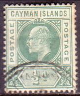 Cayman Islands 1902 SG #3 �d used wmk Crown CA CV �28