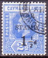Cayman Islands 1917 SG #54 1�d on 2�d VF used