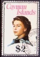 Cayman Islands 1976 SG #419 $2 used wmk Mult. Crown CA Diagonal inverted rounded corner